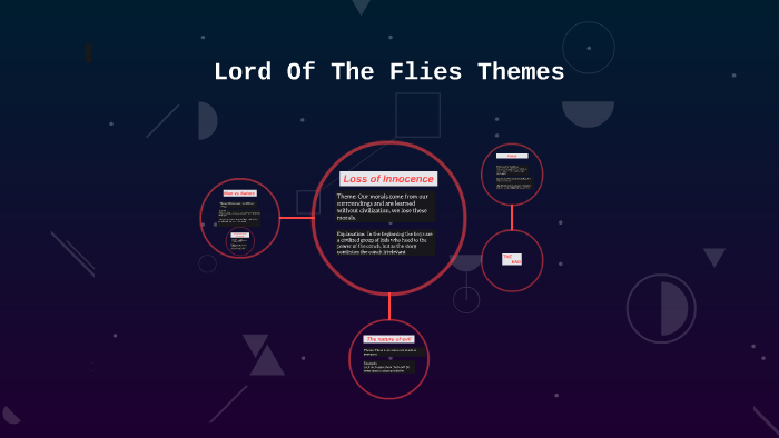 what are some themes in lord of the flies