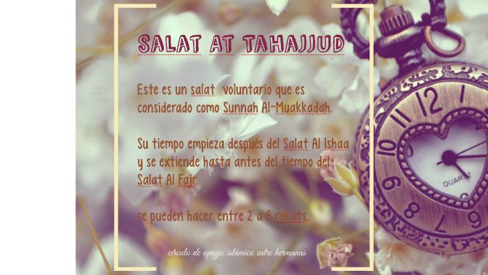 La oración Tahajjud es una oración especial islámica que se