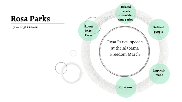 Rosa Parks Speech At The Alabama Freedom March By Wesleigh