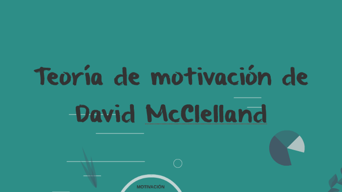Teoría De La Motivación De David Mcclelland By Juliana Díaz