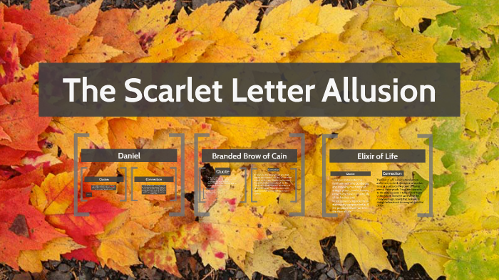 biblical allusions in the scarlet letter