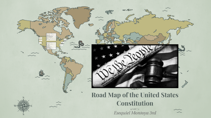 road map to the united states constitution Road Map of the United States Constitution by Esequiel Montoya