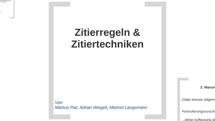 Zitierregeln By Mannel Langemann On Prezi