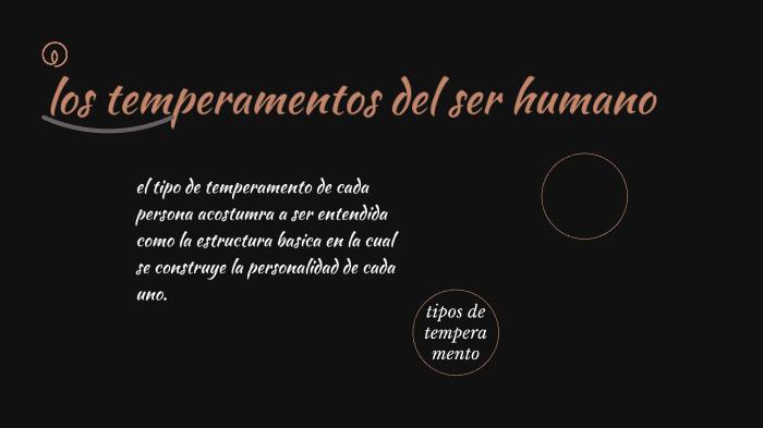 Los Temperamentos Del Ser Humano By Flor Jovanna Perez