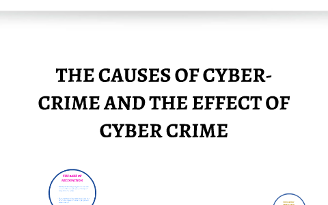 reasons of cyber crime