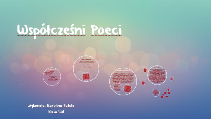 Współcześni Poeci By Karolina Patoła On Prezi