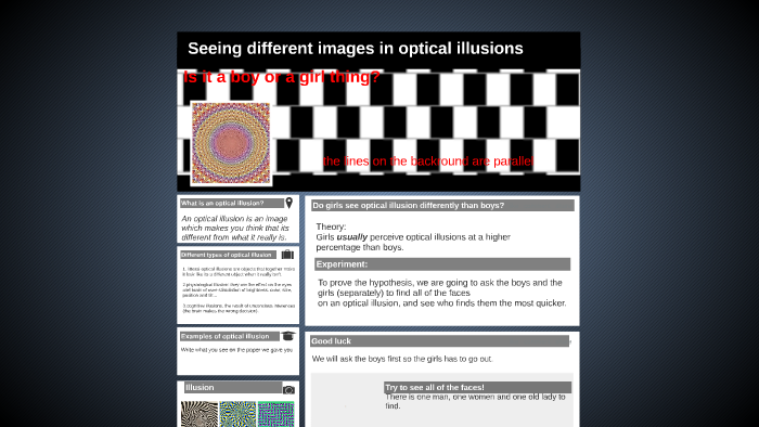 points on an optical illusions for science fair projects