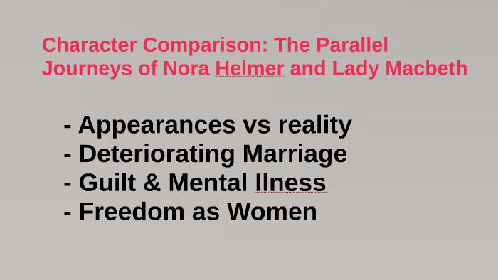comparison between macbeth and lady macbeth