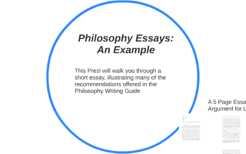 Example of philosophical essay