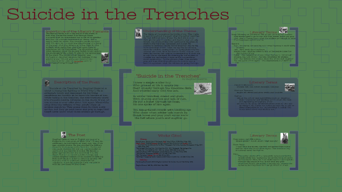 suicide in the trenches poetic techniques