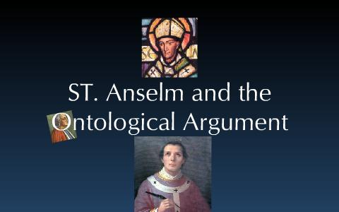 st anselm ontological