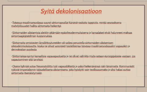 Dekolonisaatio