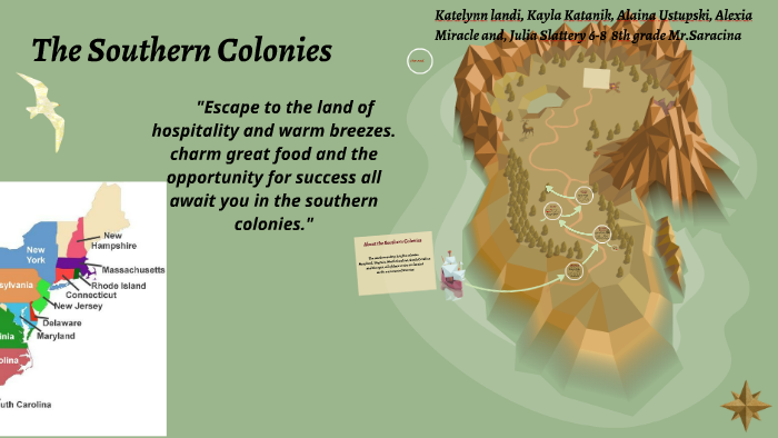 where were the southern colonies located