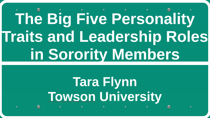 The Five Factor Model of the Big Five Traits by Tara Flynn