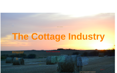what is meant by cottage industry