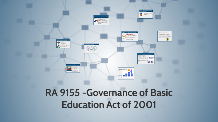 RA 9155 -Governance of Basic Education Act of 2001 by Jezza Marie