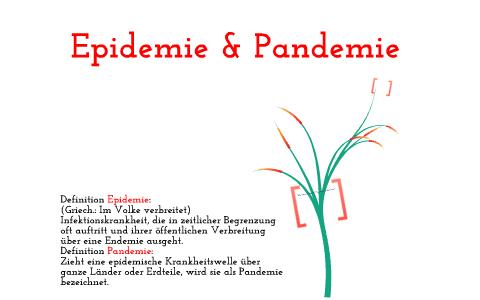 Pandemie Epedemie