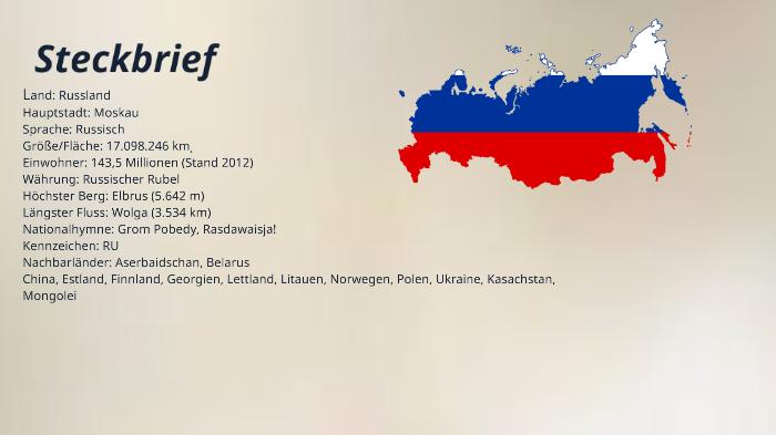 Russland Steckbrief