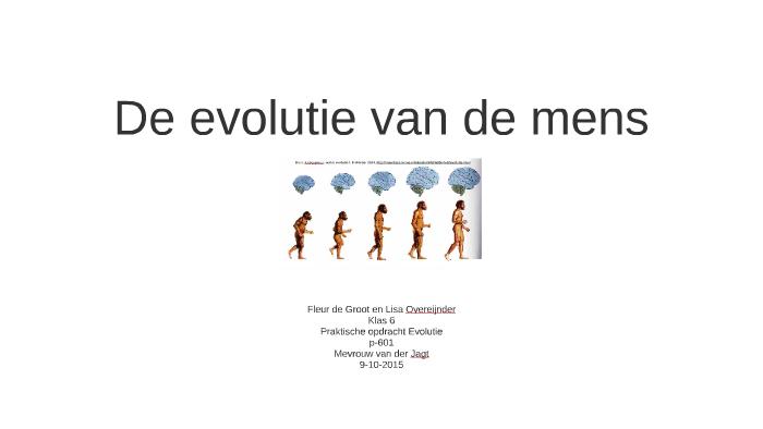 de evolutie van de menslisa overeijnder on prezi