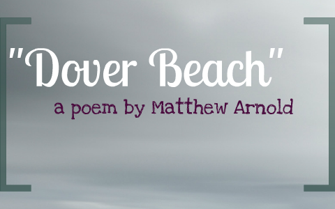 dover beach poem summary