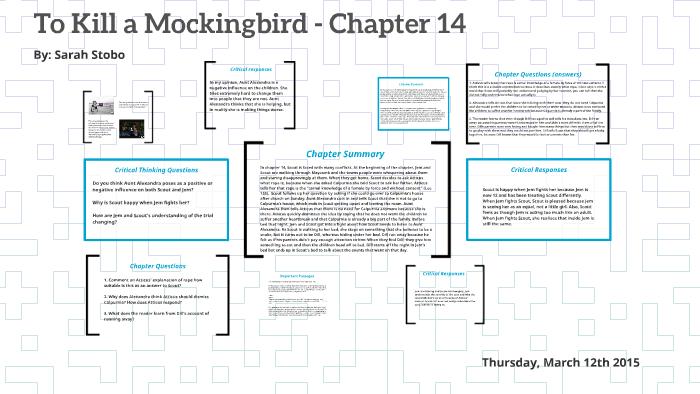 chapter 14 to kill a mockingbird summary