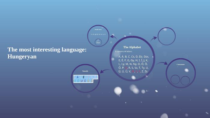 The most interesting language: Hungeryan by Klári Makai on Prezi