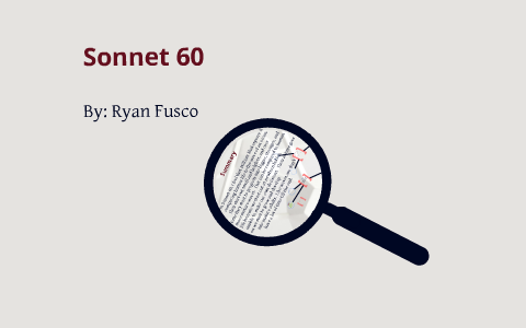analysis of sonnet 60