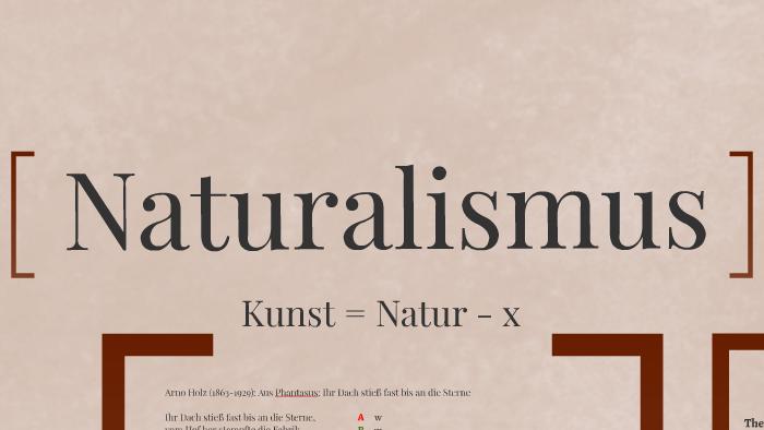 Naturalismus Deutsch Referat By Philipp Klein On Prezi