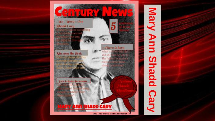 Mary Ann Shadd Cary By Aaiswini Sathisshkumar