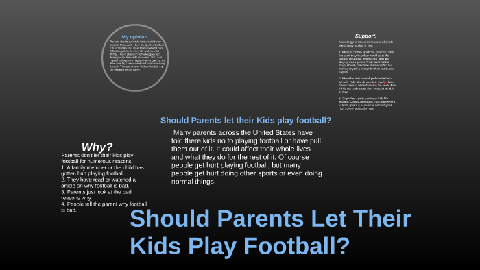 Dont Let Kids Play Football >> Should You Let Your Kid Play Football By Nathan Hong On Prezi