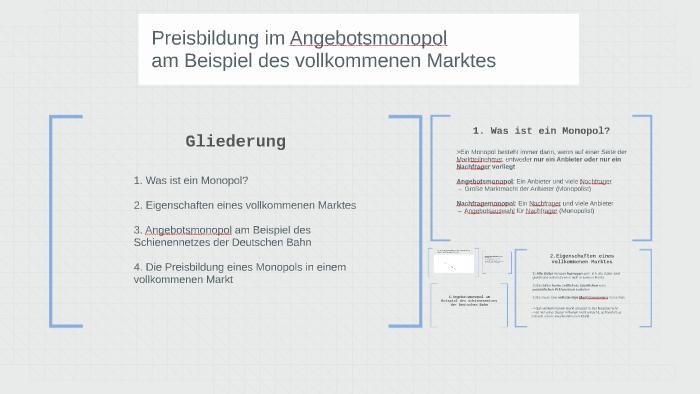 Preisbildung Im Angebotsmonopol By Frederik Gruhn On Prezi