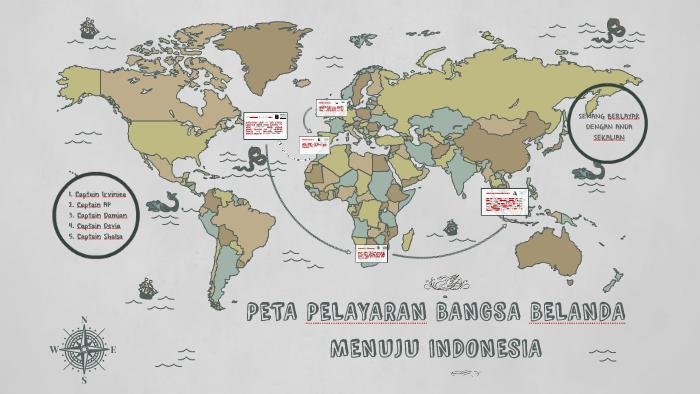 Peta Pelayaran Bangsa Belanda Menuju Indonesia By Shalsa Gio