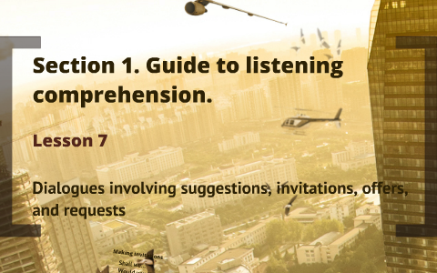 Dialogues Involving Suggestions Invitations Offers And Requests By