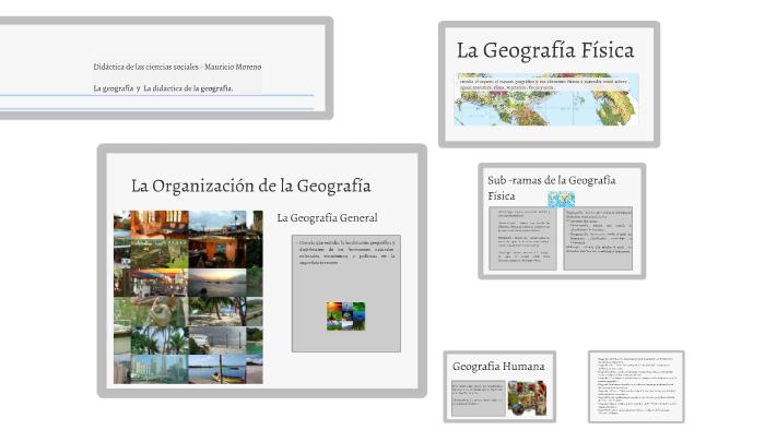 Geografía Y Sus Divisiones De Estudio By Rasmauro Moreno On