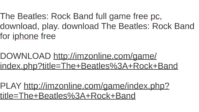 The beatles rock band pc download