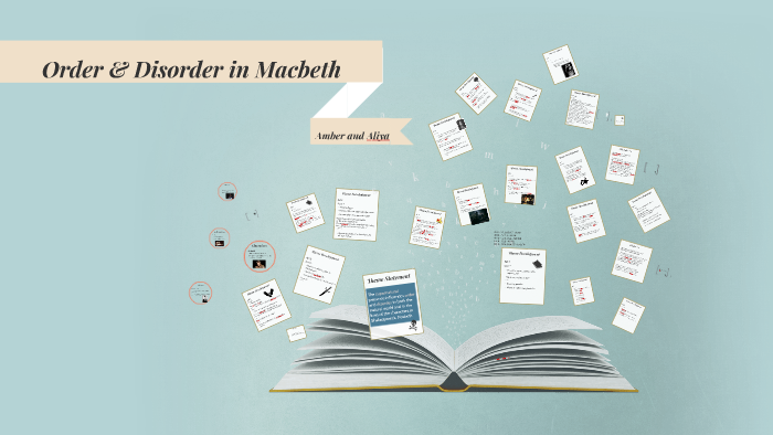 Macbeth order and disorder essay