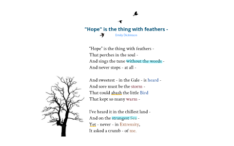 hope is the thing with feathers song