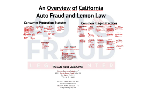 California Lemon Laws Dmv Org >> An Overview Of California Auto Fraud And Lemon Law By Joshua Anaya