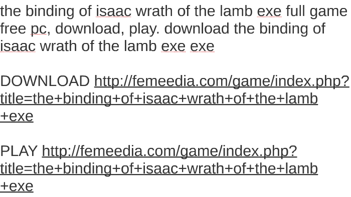 binding of isaac full game free download