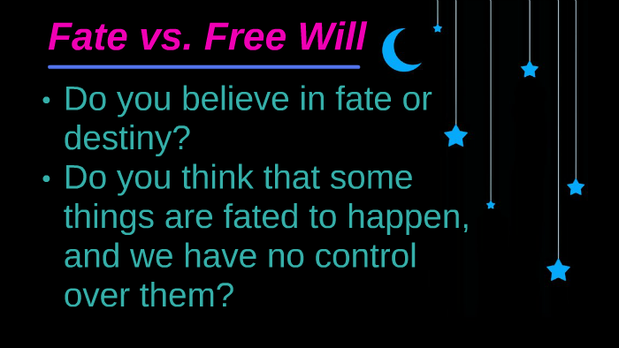 what is fate vs free will