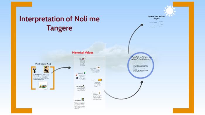 reaction paper on noli me tangere