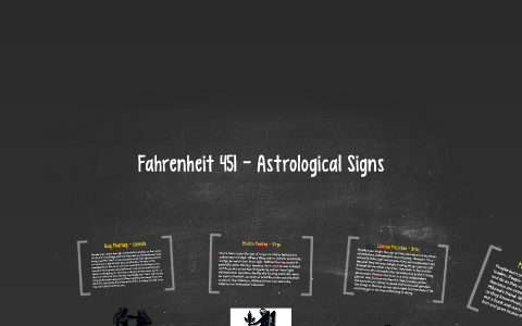 Fahrenheit 451 - Astrological Signs