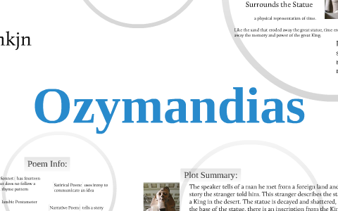ozymandias poem analysis line by line