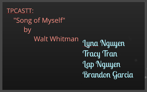 summary of the poem song of myself by walt whitman