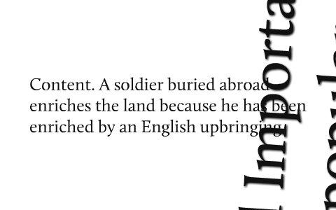 soldier by rupert brooke analysis