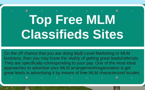 Top Free MLM Classifieds Sites by Juan Samsel on Prezi