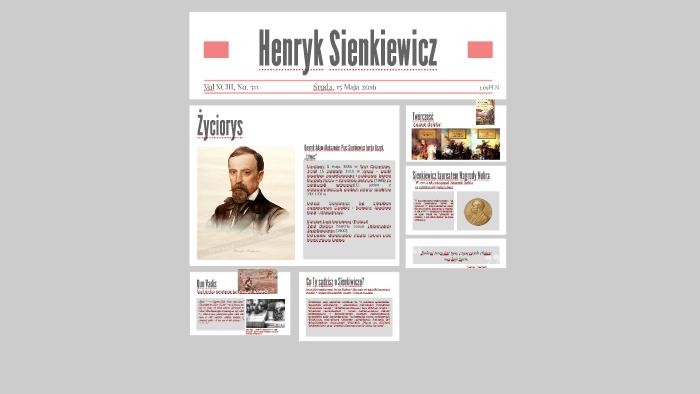 Henryk Sienkiewicz By Michał Pabian On Prezi