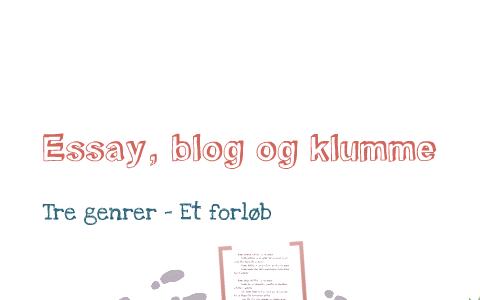 forskel mellem klumme og essay