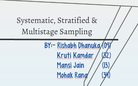 Systematic, Stratified & Multistage Sampling by mohak rana on Prezi