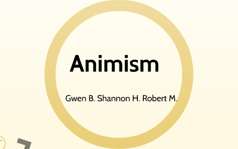 importance of animism
